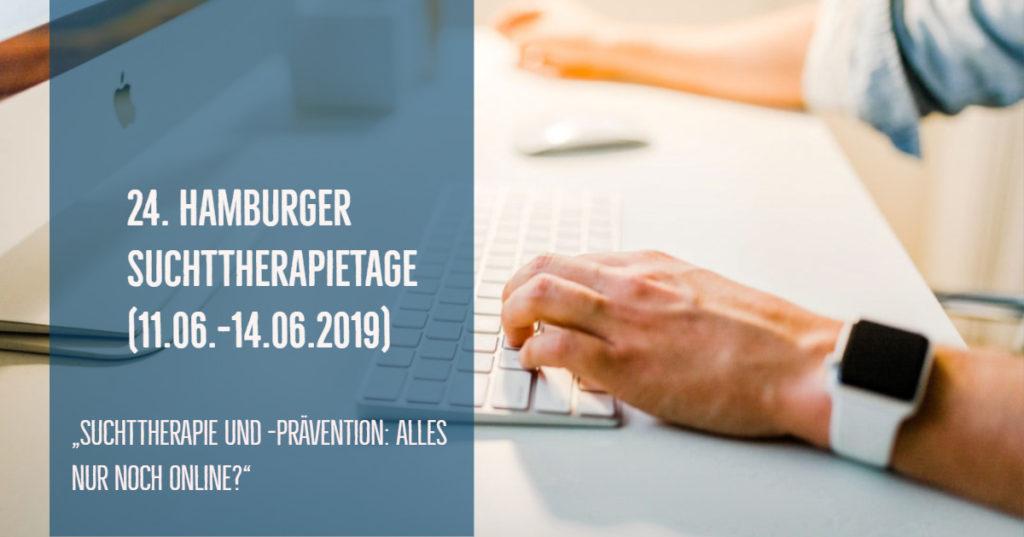 """24. Hamburger Suchttherapietage - Fazit unseres Vortrags: """"Online Suchtberatung (...). Geht das alles?""""."""