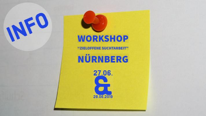 """Tipp: 2-tägiger Workshop zu """"Zieloffener Suchtarbeit"""" in Nürnberg"""